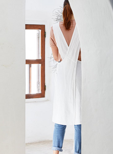 Washed Linen Japanese Apron