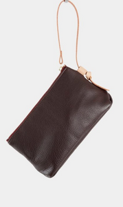 Knotted Wristlet in Molasses
