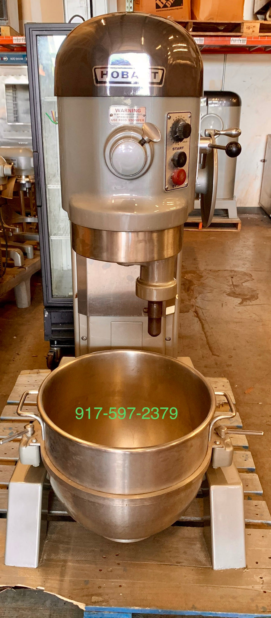 Hobart 60 Qt mixer 2 HP 3 phase comes with SS bowl and one attachment