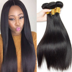 Brazilian Hair Straight Virgin Hair Extension - Exceenstores
