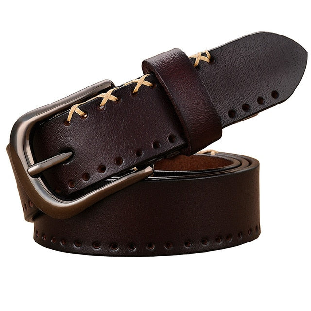 Cowskin Genuine Leather Belts For Women-Exceenstores