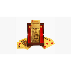 24K Gold-Plated Playing Cards with Optional Case (Ships From USA)-Exceenstores