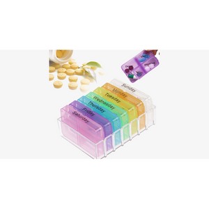 Weekly Pop-Up Pill Organizer (Ships From USA)-Exceenstores