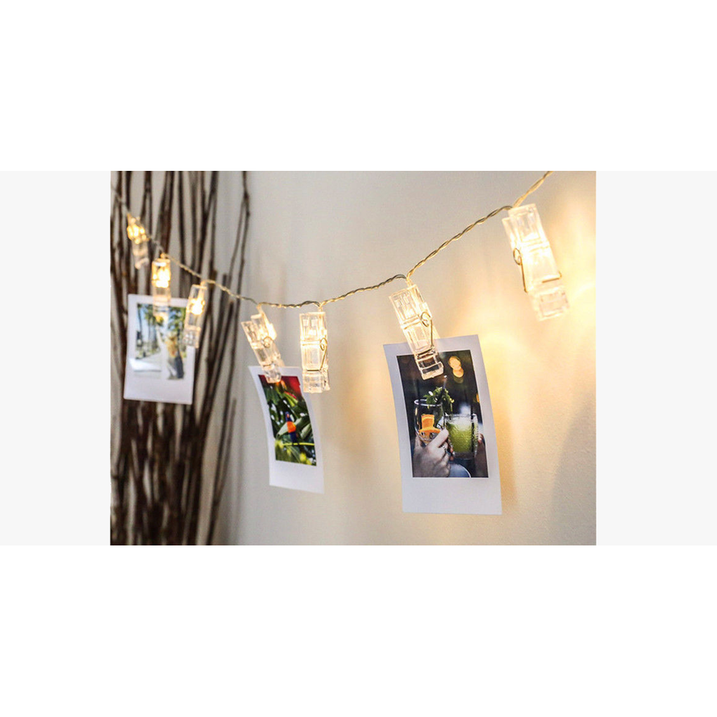 LED Hanging Photo Clips String Light  (Ships From USA) - Exceenstores