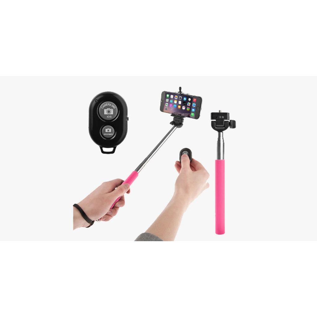 Selfie Stick With Remote Bluetooth Shutter Button – Take Pictures Like Never Before! (Ships from USA) - Exceenstores