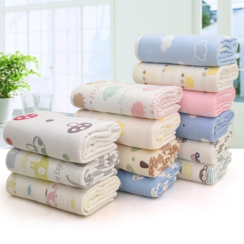 100% Cotton Baby Blanket Child Quilt for Newborns-Exceenstores