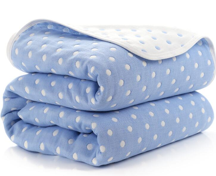 Baby Blankets Newborn Cotton 6 Layers Thick Swaddle Kids Receiving Blankets Children Cover Bedding-Exceenstores