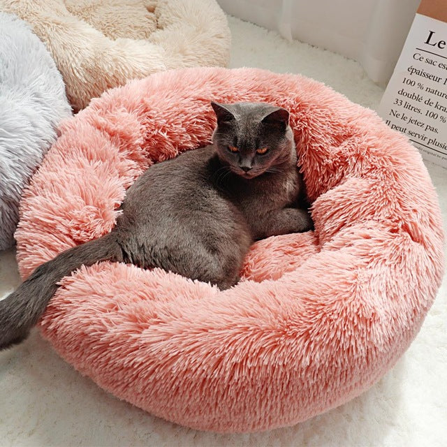 ComfyPet Plush Pet Bed for Cats and Dogs-Exceenstores