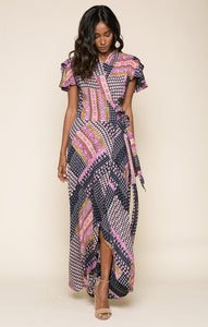 Gigi Wrap Maxi Dress - [exceenstores]