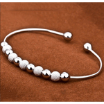 Silver Ball Cuff Bangle (Ships From USA)-Exceenstores