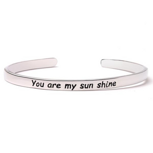 You Are My Sunshine Bangle (Ships from USA)-Exceenstores