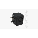 Universal Travel Adapter - Features Universal Socket with 2 USB Ports - Lightweight & Portable - Perfect for All Smart Devices (Ships from USA) - Exceenstores