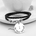 Semicolon Hand Stamped Bracelet (Ships From USA)-Exceenstores