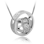 Forever Heart Pendant - White Gold (Ships From USA)-Exceenstores