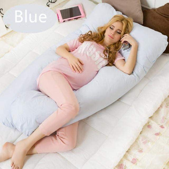 Best Pregnancy Pillow , Maternity Pillow Cover, Pregnancy Pillow Case, U Shaped Body Pillow - for Pregnant Women - Full Tummy Support - [exceenstores]