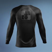Load image into Gallery viewer, Checkmat Black Ranked Rashguard