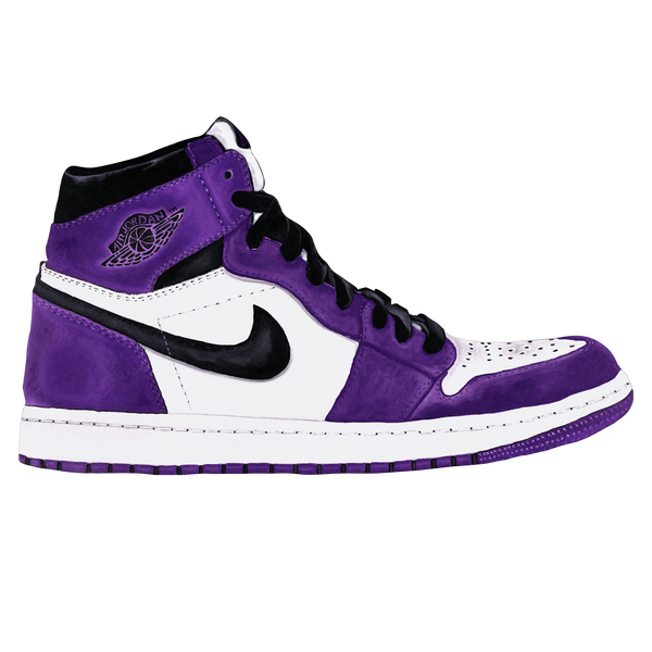 Jordan 1 Court Purple Wall Decal