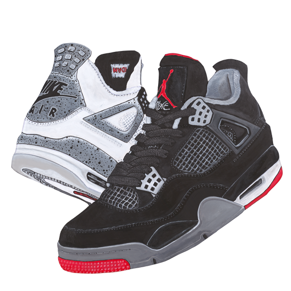 Jordan 4 Cement/Bred Wall Decal