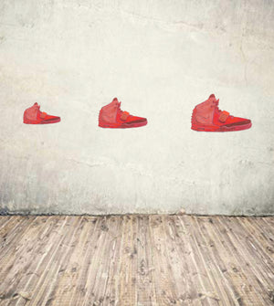 Yeezy Red Octobers Wall Decal