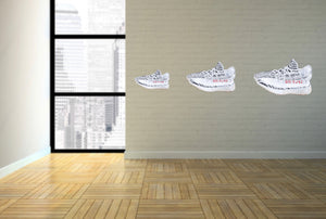 "Yeezy 350 ""Zebra"" Wall Decal"