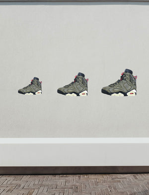 Jordan 6 Travis Scott Wall Decal
