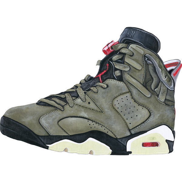 Jordan 6 Travis Scott Wall Print