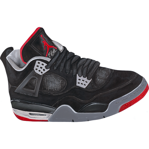 Jordan 4 Bred Wall Decal