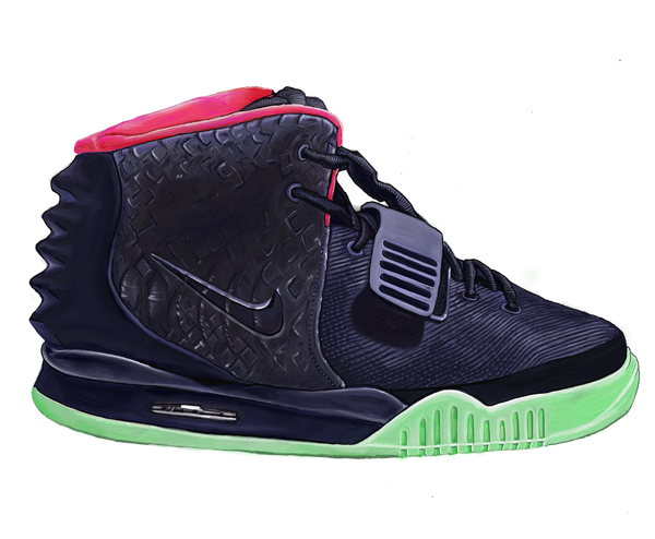 Nike Air Yeezy 2 Solar Red Wall Decal