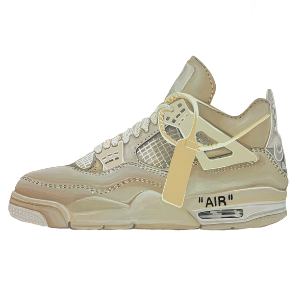 Jordan 4 Retro Off-White Sail Wall Print