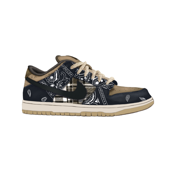 SB Dunk Travis Scott Wall Print