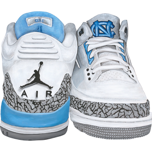 Jordan 3 UNC Wall Decal