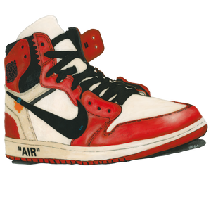 Jordan 1 Off_White Chicago Wall Decal