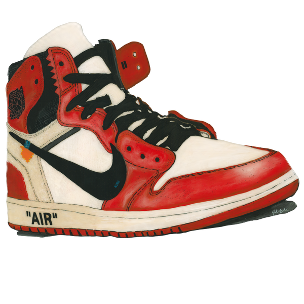 Jordan 1 Off_White Chicago Wall Print