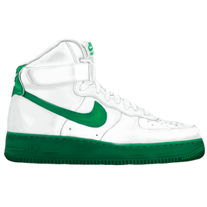 AF1 High Green Wall Print