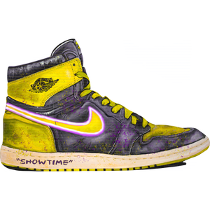 DRIPS Jordan 1 Banned Lakers Wall Print