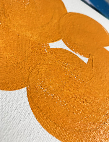 Wall Inclusive | Hand-painted Personalised Name Canvas | Orange Turquoise Canvas
