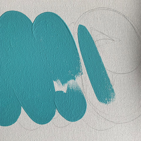 Wall Inclusive | Hand-painted Personalised Name Canvas | Bubble Turquoise Canvas