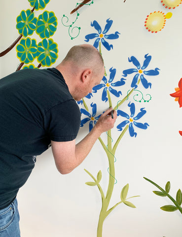 Wall Inclusive | Flower Mural | Behind The Scenes