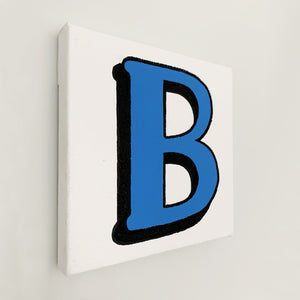 Personalised Cobalt Blue Letter Canvas