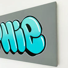 Load image into Gallery viewer, Wall Inclusive | Personalised Bubble Turquoise Name Canvas