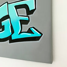 Load image into Gallery viewer, Wall Inclusive | Personalised Graffiti Turquoise Name Canvas