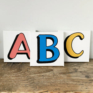 Personalised Letter Canvases Group