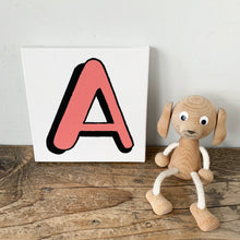 Load image into Gallery viewer, Personalised Coral Red Letter Canvas