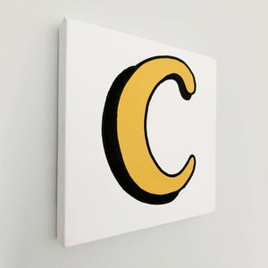 Personalised Sunshine Yellow Letter Canvas