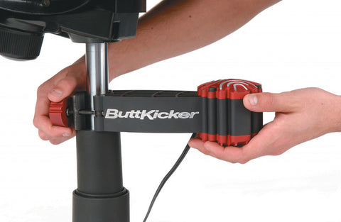 buttkicker gamer2 installed to gaming chair
