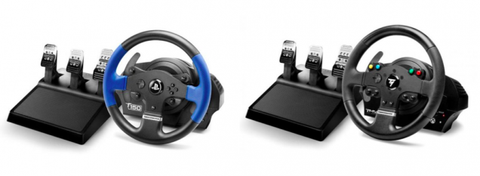 thrustmaster T150 wheel and pedals and TMX wheel and pedals