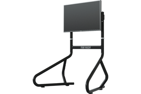 trak racer single monitor stand with display