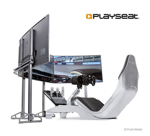 playseat f1 cockpit with monitor stand and monitors