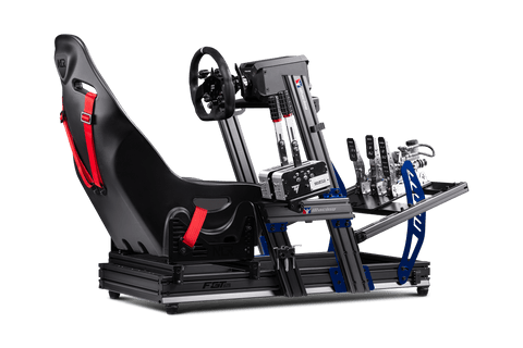 next level racing F-GT elite racing cockpit with direct drive wheel and load cell pedals