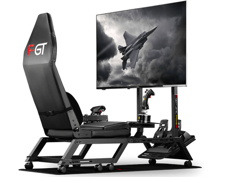 f-gt flight cockpit with monitor and accessories